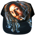 Paint on mesh cap