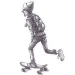 Drawing-skateboard